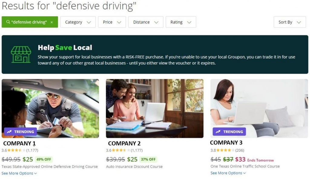 defensive driving groupon example